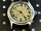 Vintage Concord Military Watch WW2 inner 24hr sector dial blue steel all steel
