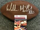 NEW ENGLAND PATRIOTS WILLIE MCGINEST AUTOGRAPHED SIGNED NFL FOOTBALL JSA COA