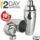 Premium Silver Cocktail Shaker Set Stainless Steel Drink Mixer 24 Oz Ounce New