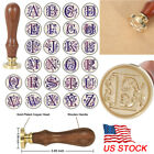 Sealing Wax Classic Initial Wax Sealing Stamp Alphabet Letter 26 Retro Wood US