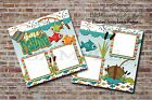 Gone Fishing Summer Outdoors 2 PRINTED Premade Scrapbook Pages BLJgraves 62