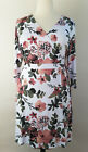 XL Extra Large LuLaRoe Michelle Wrap Dress Floral Roses White Dusty Rose DTY 18
