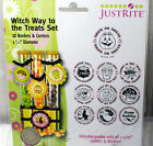 JustRite Original Halloween Stamps Witch Way to the Treats Set