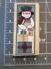 Rubber Stampede Country Snowman With Presents Wood Mounted Rubber Stamp CUTE