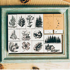 DIY Wooden Rubber Stamp Forest Plant Animal Style Scrapbook Craft Card Album