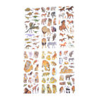 6 Sheets Wildlife Animals Scrapbooking Bubble Puffy Stickers Reward Kids Toys WK