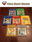 Pokemon Red Blue Green Silver Gold Crystal for Game Boy Color SHIPS FROM USA