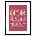Quote Typography Native American Blessings Framed Wall Art Print 12X16 In
