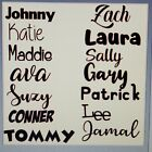 Custom Personalized 1 Name or word Vinyl Decal Sticker Wall Window Car Decor