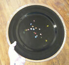 Huge 125 Studio Art Glass Charger Plate Black Murano Millefiori Accents Italy