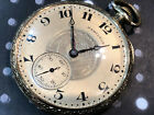 Vintage Hamilton Pocket watch Relief Dial inlay 912 USA 17 jwls 1930's gold fill