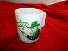 Vintage 1950's Hazel Atlas Green Hopalong Cassidy Coffee Cup/Mug Milk Glass