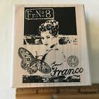 The Glance FRENCH Woman Collage by Stampington Rubber Stamp 3366