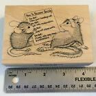 THE QUICK FIX Amanda HOUSE MOUSE Rubber Stamp STAMPA ROSA 136