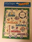 Soccer Themed Scrapbook Stickers New