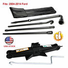 2T Scissor Jack + Spare Tire Tool Lug Wrench Extension Iron Repair Kit Fits Ford