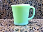 Vintage Fire King JADEITE D Handle Mug Flat Bottom