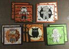 10 Halloween Mini Note Cards 3 X 3 2 of each design Made w Stampin Up Stamp