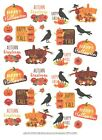 1 850 x 11 Sheet of Halloween and Fall Sentiment Stickers by Current