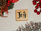 Joy Rubber Stamp Christmas Holiday 26