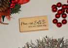 Peace on Earth Goodwill to Men Rubber Stamp Christmas Sentiment 26