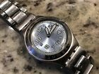 Awesome SWATCH IRONY Day Date Watch, ICE BLUE Dial, Stainless-Steel