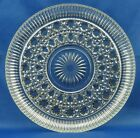 Vintage Federal Glass Windsor, Clear Round Dish Tray Button and Cane Design 11