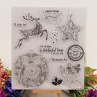 Silicone Clear Stamp Transparent Rubber Stamps DIY Scrapbook Christmas deer WK