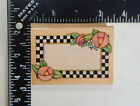All Night Media Checkerboard Frame Rubber Stamp 536H