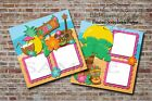 Hawaii Luau Beach Vacation 2 PRINTED Premade Scrapbook Pages BLJgraves 70