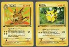 Raichu  Pikachu 1st Edition Fossil Jungle Set Rare Pokemon Cards MP HP