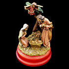 CHRISTMAS NATIVITY wind up MUSIC BOX HOLY FAIMLY  ANGEL SILENT NIGHT