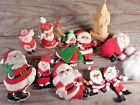 Vintage Christmas Santa Claus figures and ornaments collection craft lot