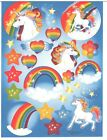 1 Sheet of Unicorn and Rainbow Stickers