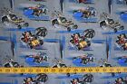 DISNEY MICKEY FRIENDS ROADSTERS 1928 100 COTTON FABRIC 29X43 INCHES