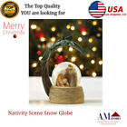 Nativity Scene Snow Globe Christmas Indoor Decorations Under Tree Table Gift NEW