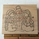 Snowman Christmas Holiday Winter Rubber Stamp