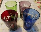Colored Crystal Driniking Glasses 4 Colors 5 1 4 tall
