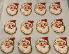 12 Vintage Christmas Stickers SANTA CLAUSE  FREE SHIPPING