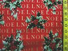 CHRISTMAS NOEL HOLLY BERRY HENRY PRINT 100 COTTON FABRIC BY THE 1 2 YARD