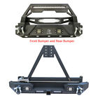 Rock Crawler Front and Rear Bumper with LED Lights Fit 87-06 Jeep  Wrangler TJ