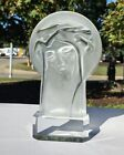 Rainbow Crystal Jesus Christ Statue 3D Desk Icon Of The Lord Carved Glass