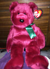 """Ty Beanie Buddy Teddy the Cranberry Bear 13"""" 1998 Retired With Tag Protector"""
