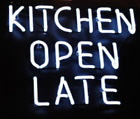 Kitchen Open Late Bar Beer Pub Acrylic Neon Light Sign 14 Artwork Glass Decor