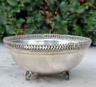 ESTATE STERLING SILVER FOOTED BOWL 5 FANCY RIM NO MONOS FREE USA SHIPPING