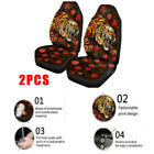 2X Creative SUV Car Seat Cover Protectors Cushion Universal Tiger Flower Pattern