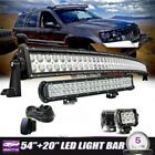 54inch LED Light Bar Combo+20 Lower+418W PODS FIT OFFROAD JEEP TRUCKS VS 52 22
