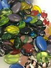 Oval Czech Glass Beads Mixed Colors  Sizes 1 2 lb