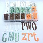 Chipboard Alphabet Letters Self Adhesive Die Cuts 137 Letters Total