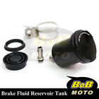 For Kawasaki Ninja 250R 08-12 Black Racing CNC Rear Brake Fluid Reservoir Tank